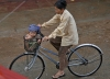 Kindersitz auf laotisch