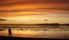 Sonnenuntergang auf Svalbard