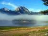 Schwarzer See im Morgennebel