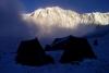 Morgenstimmung im Tent Peak Highcamp